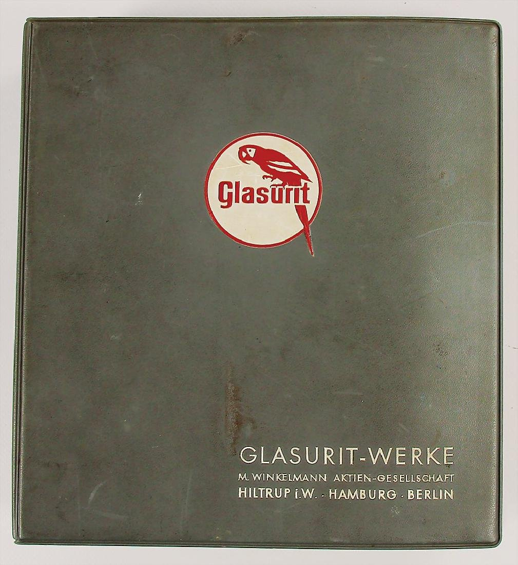 GLASURIT 1958/1959, folder with paint sample cards