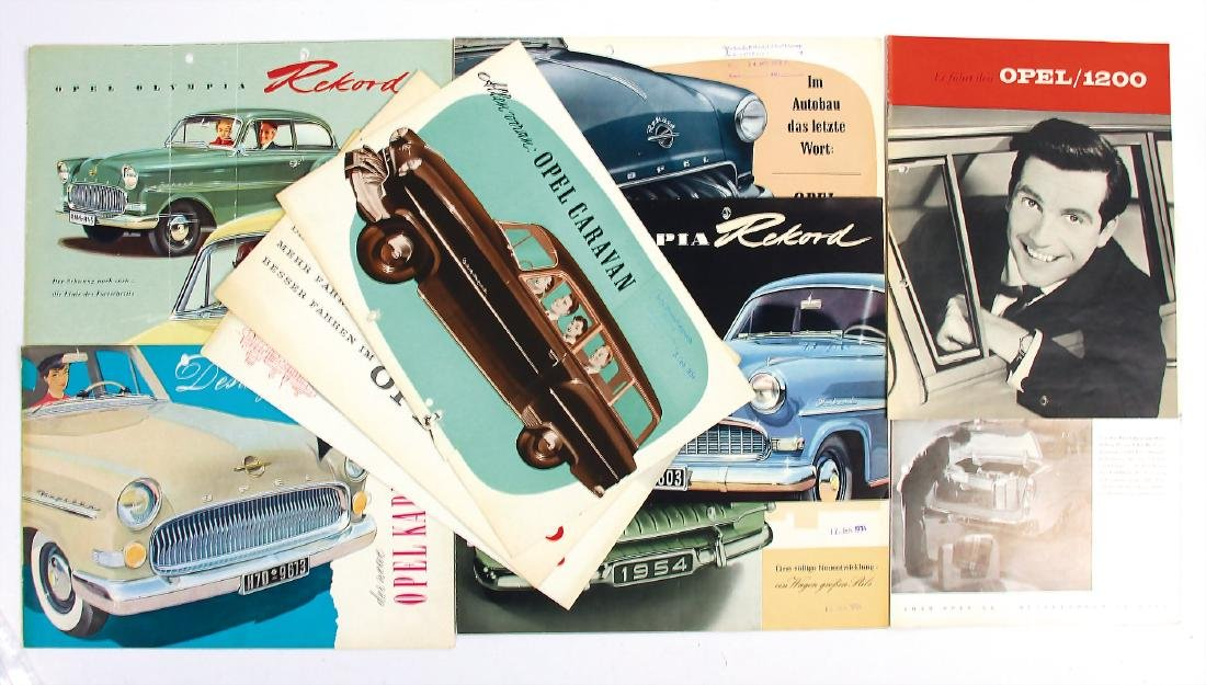 OPEL mixed lot with 10 pieces, No. 1: sales brochure