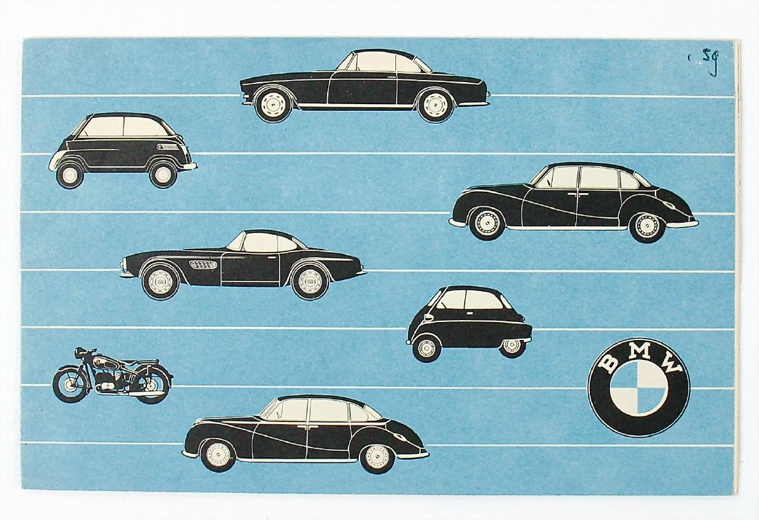 BMW fold-out brochure for different models, among it