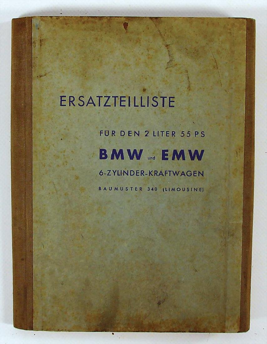 BMW replacement parts list for the 2 litre 55 BMW/EMW