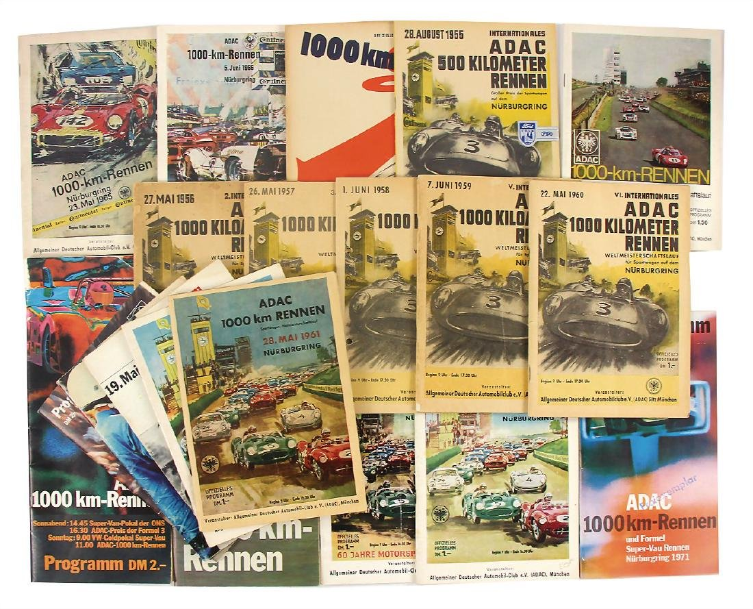 mixed lot of 20 programmes, 1000 km Nürburgring, among