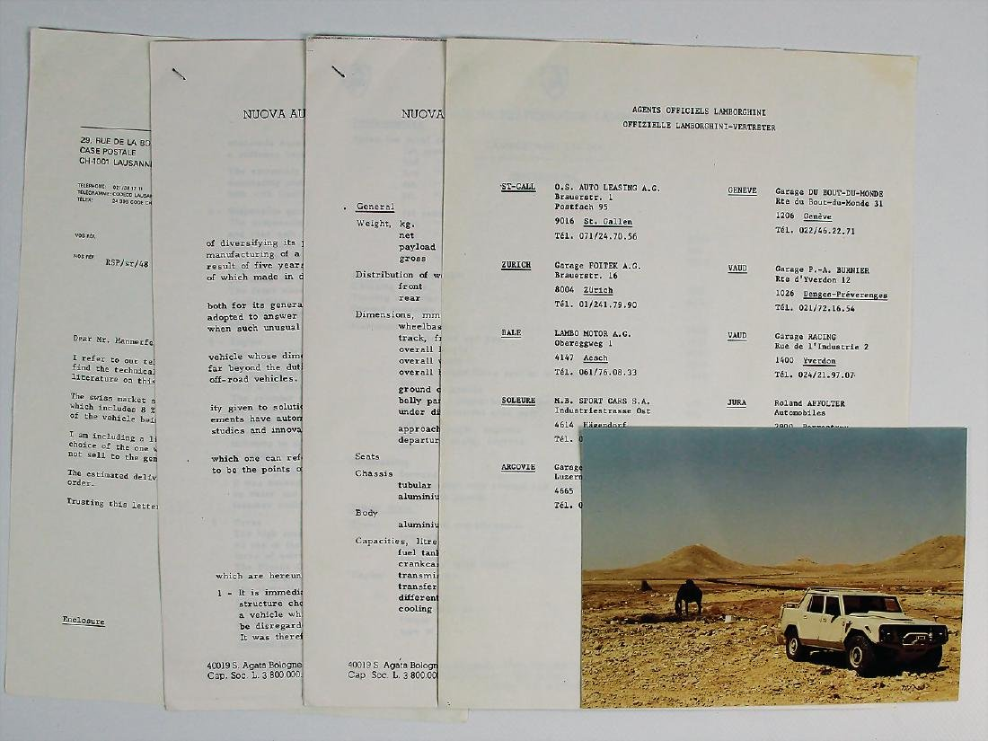LAMBORGHINI press writing/technical data Lamborghini