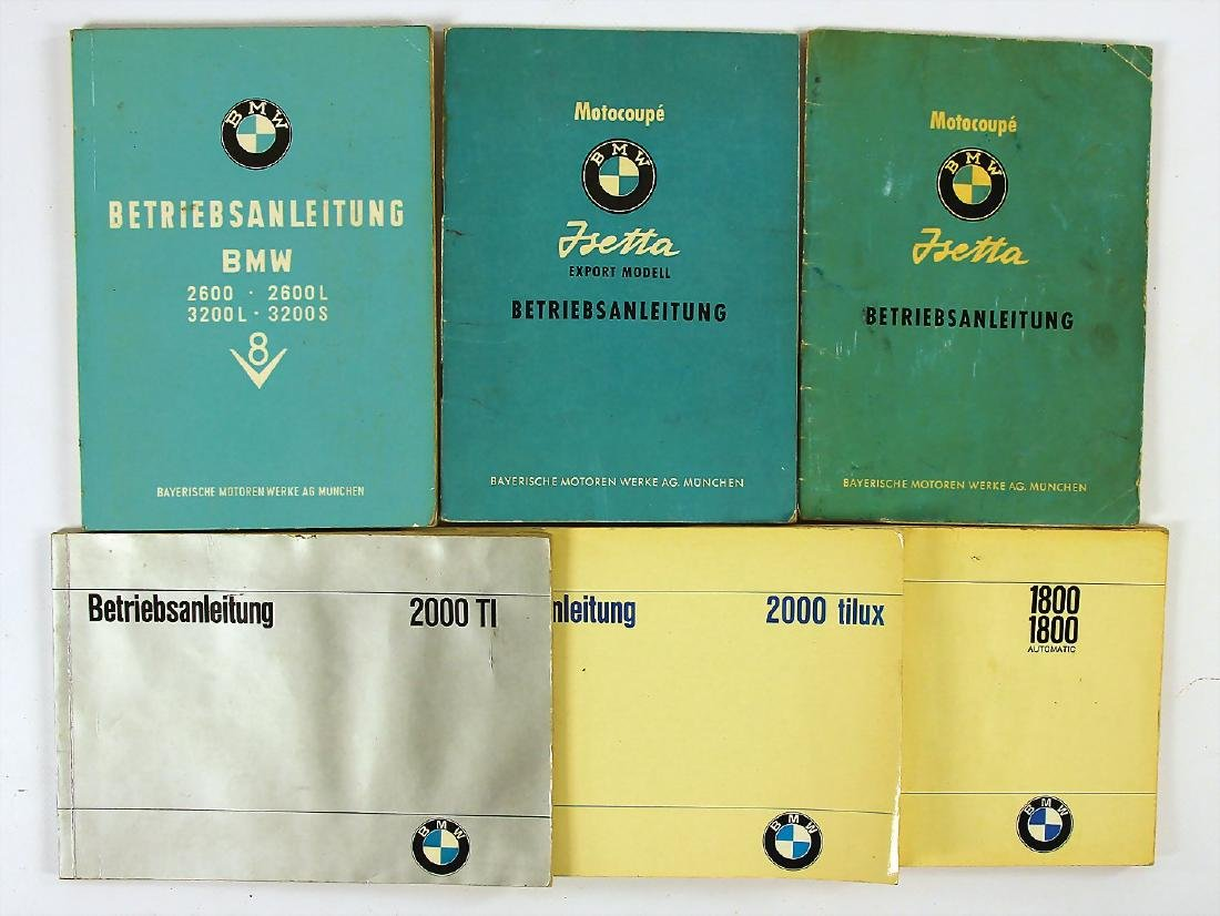 BMW mixed lot with 6 pieces, operating instructions for