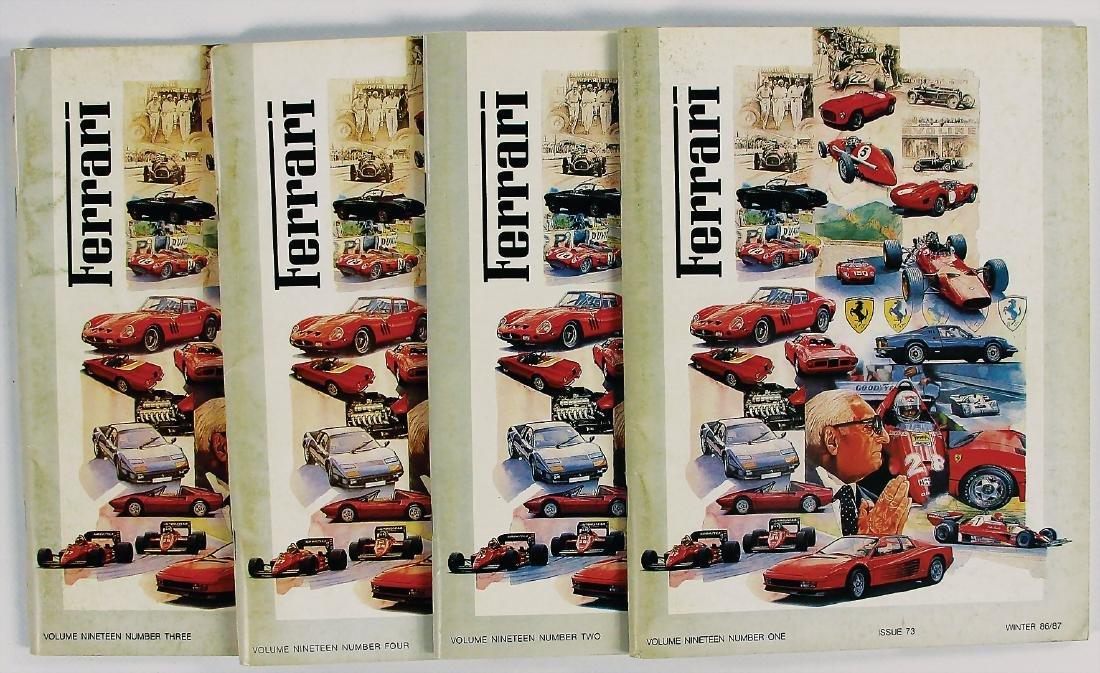 "FERRARI mixed lot with 4 issues magazine ""Ferrari"