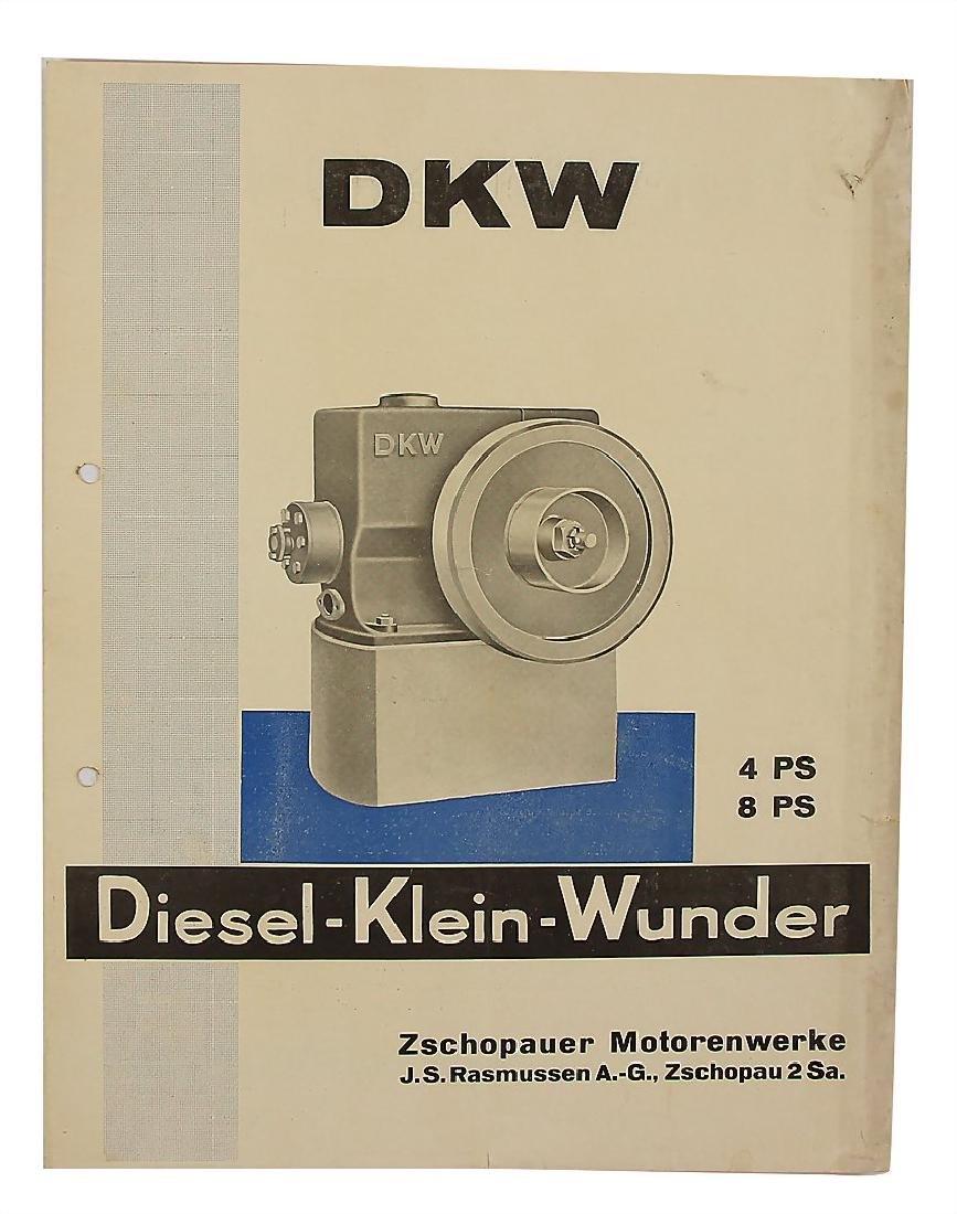 """DKW fold-out brochure """"DKW Diesel-Klein-Wunder 4 und 8"""