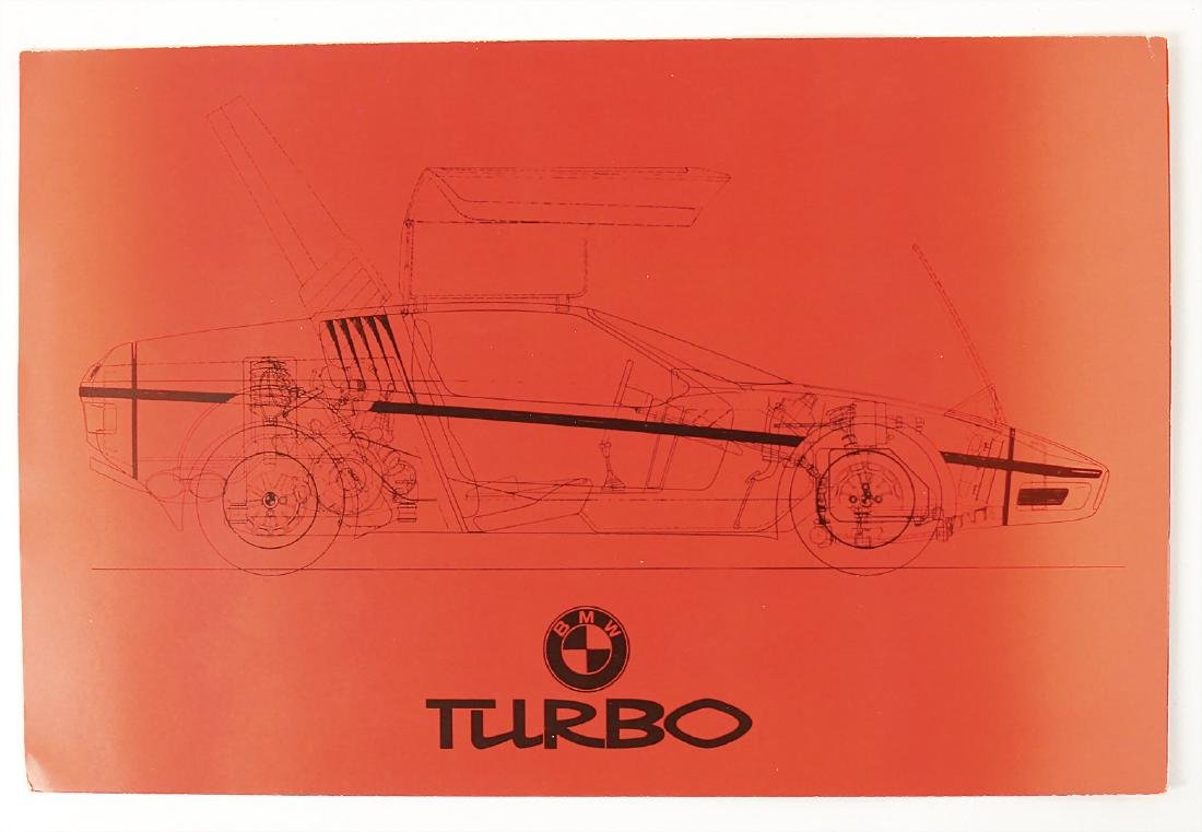 BMW fold-out brochure BMW turbo, 8 pages, German text,