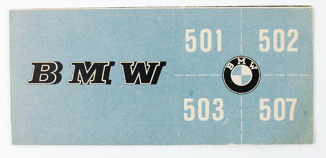 BMW fold-out brochure for type BMW 501/502/503/507, 18