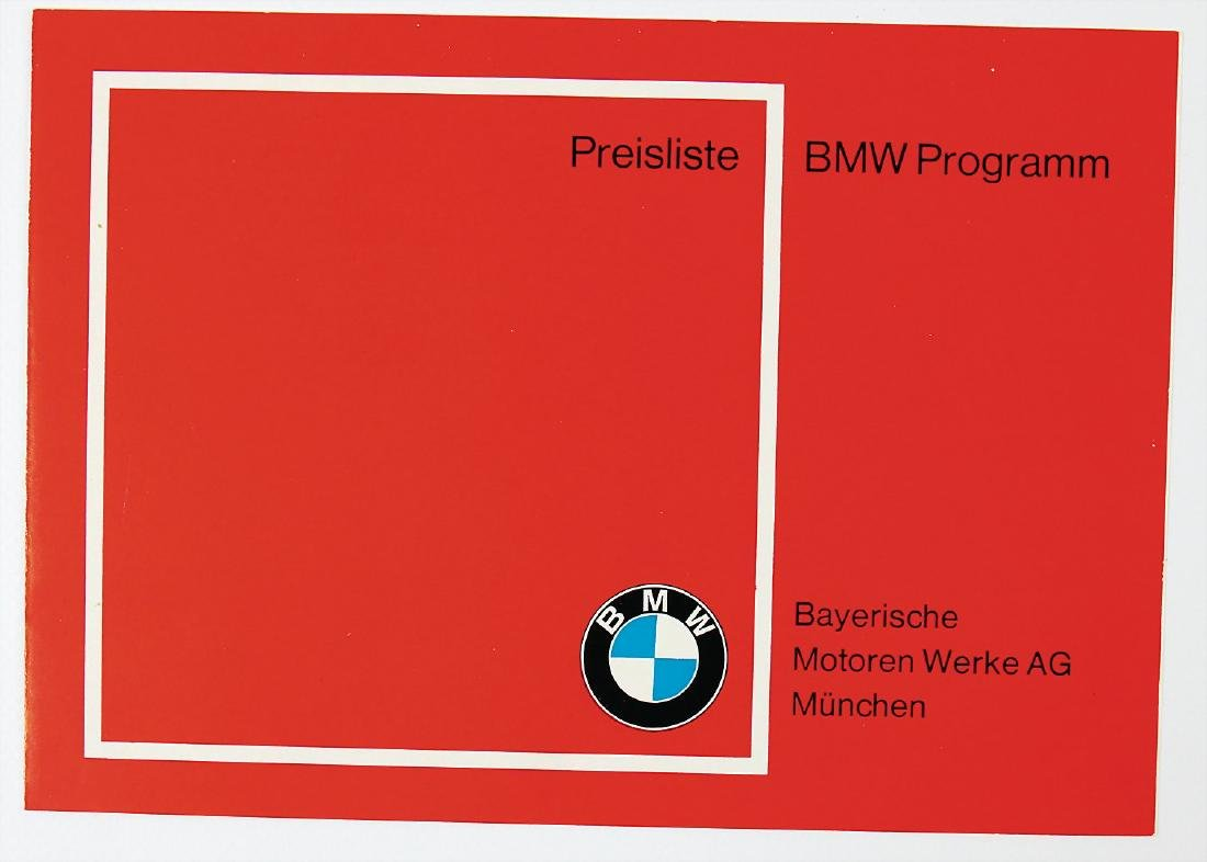 BMW price list/BMW Programm. 4 pages, for different