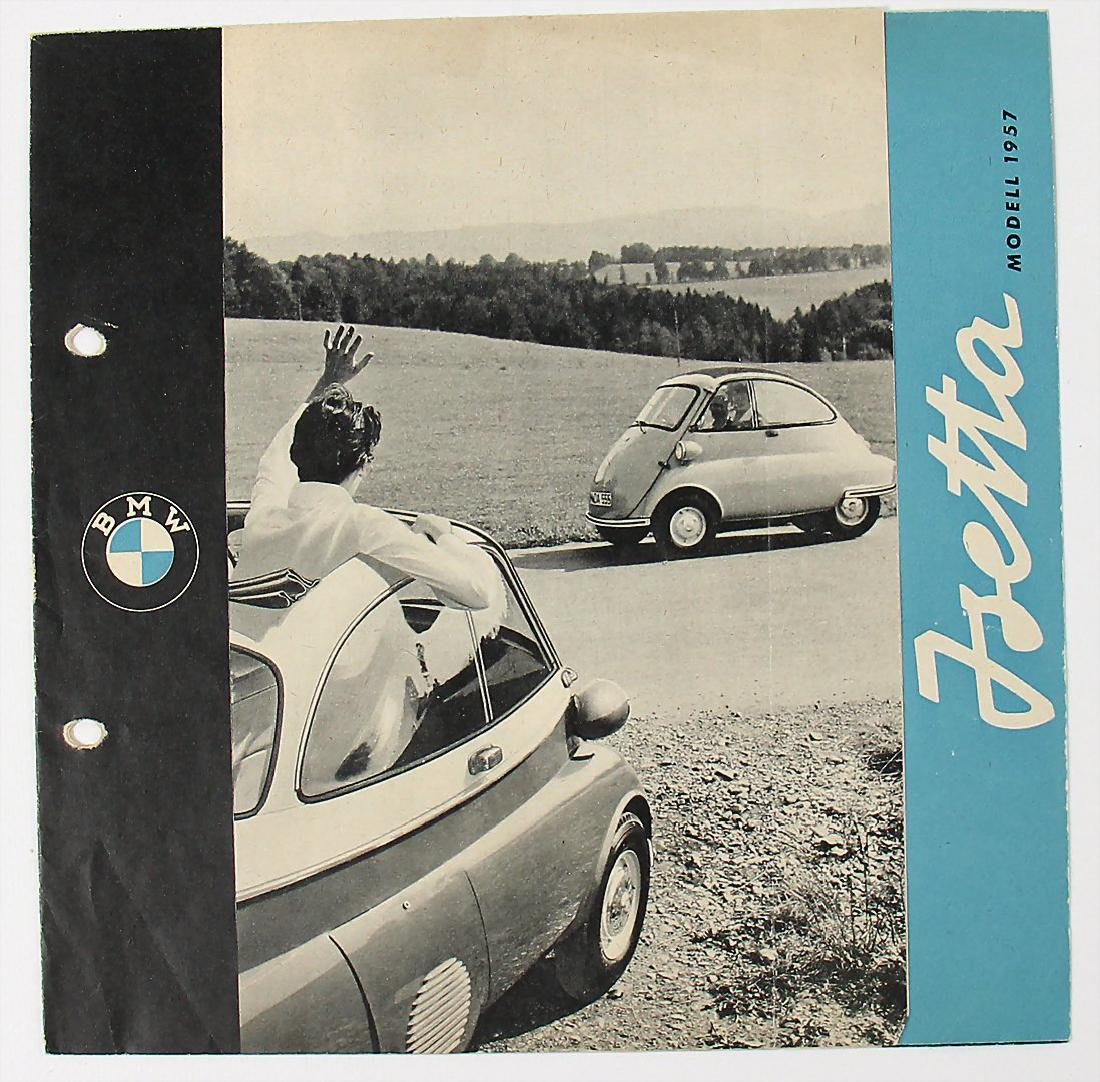 BMW fold-out brochure for type Isetta, with power