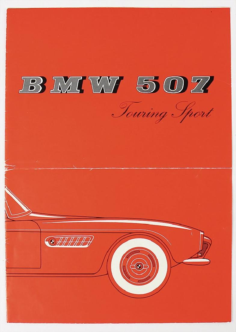 BMW fold-out brochure BMW type 507 touring Sport 3.2