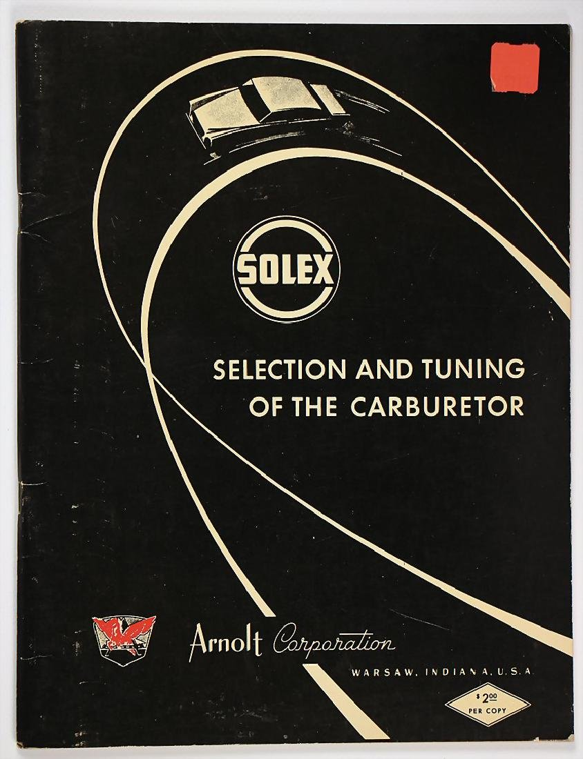 PORSCHE/SOLEX workshop manual with pictures and list of