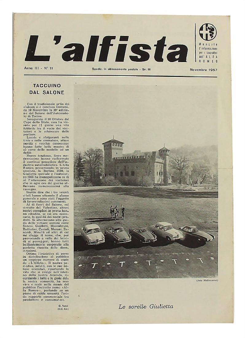 """magazine """"L´alfista"""", No. 11, 1957 """"Le Sorelle"""