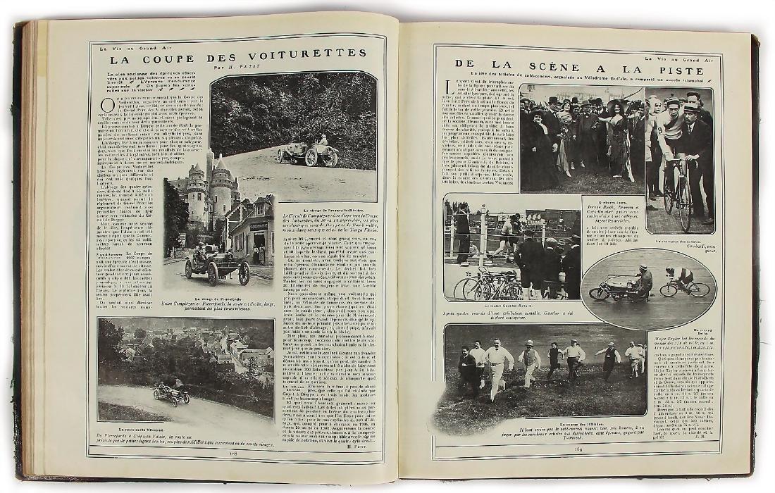 "magazine ""La Vie au Grand Air"" 1908 (II.), bound, - 2"