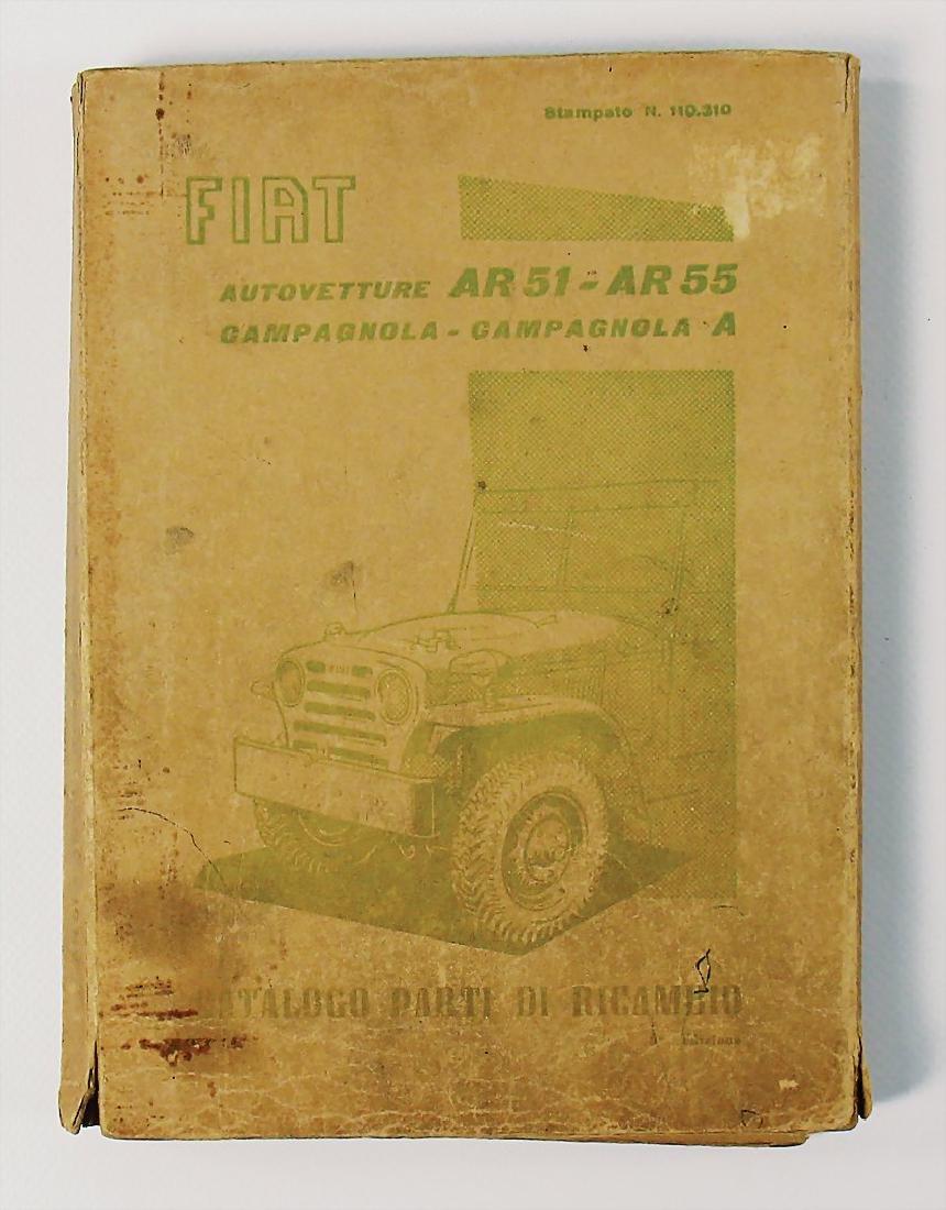 FIAT replacement parts-catalog Fiat type AR51-AR55