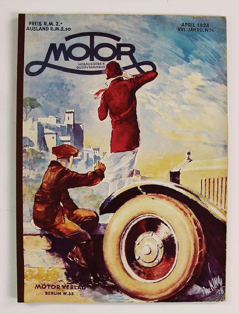 "magazine ""Motor"" (Gustav Braunbeck), year 1928, issue"