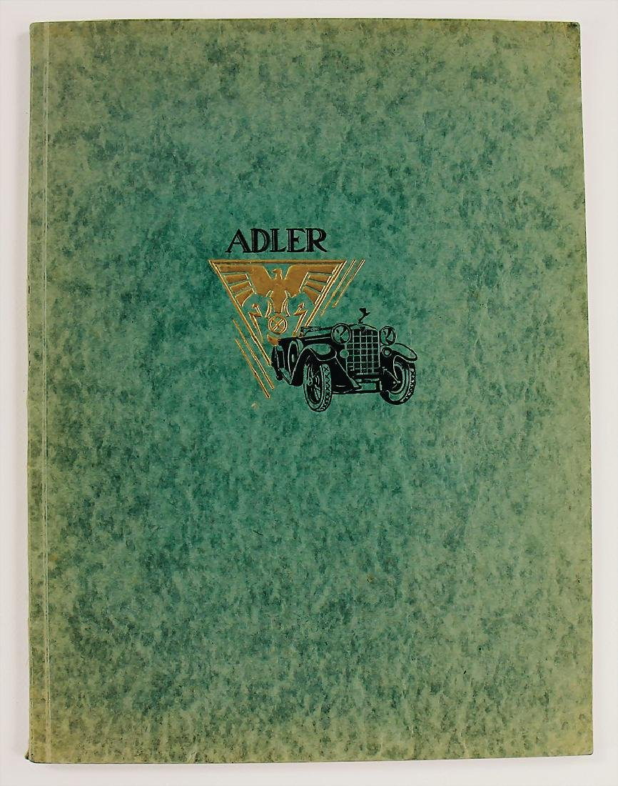 """ADLER Germany 1926, catalog with the title """"Abriss der"""