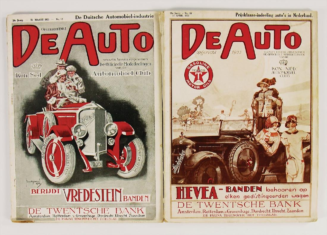 """magazine """"De Auto"""" mixed lot with 2 pieces, the issues"""