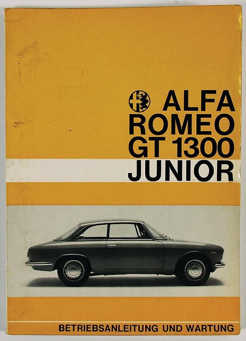 ALFA ROMEO operating instruction for Alfa Romeo GT 1300