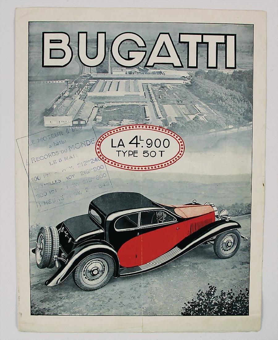 BUGATTI sales brochure/fold-out brochure type 50T, 4