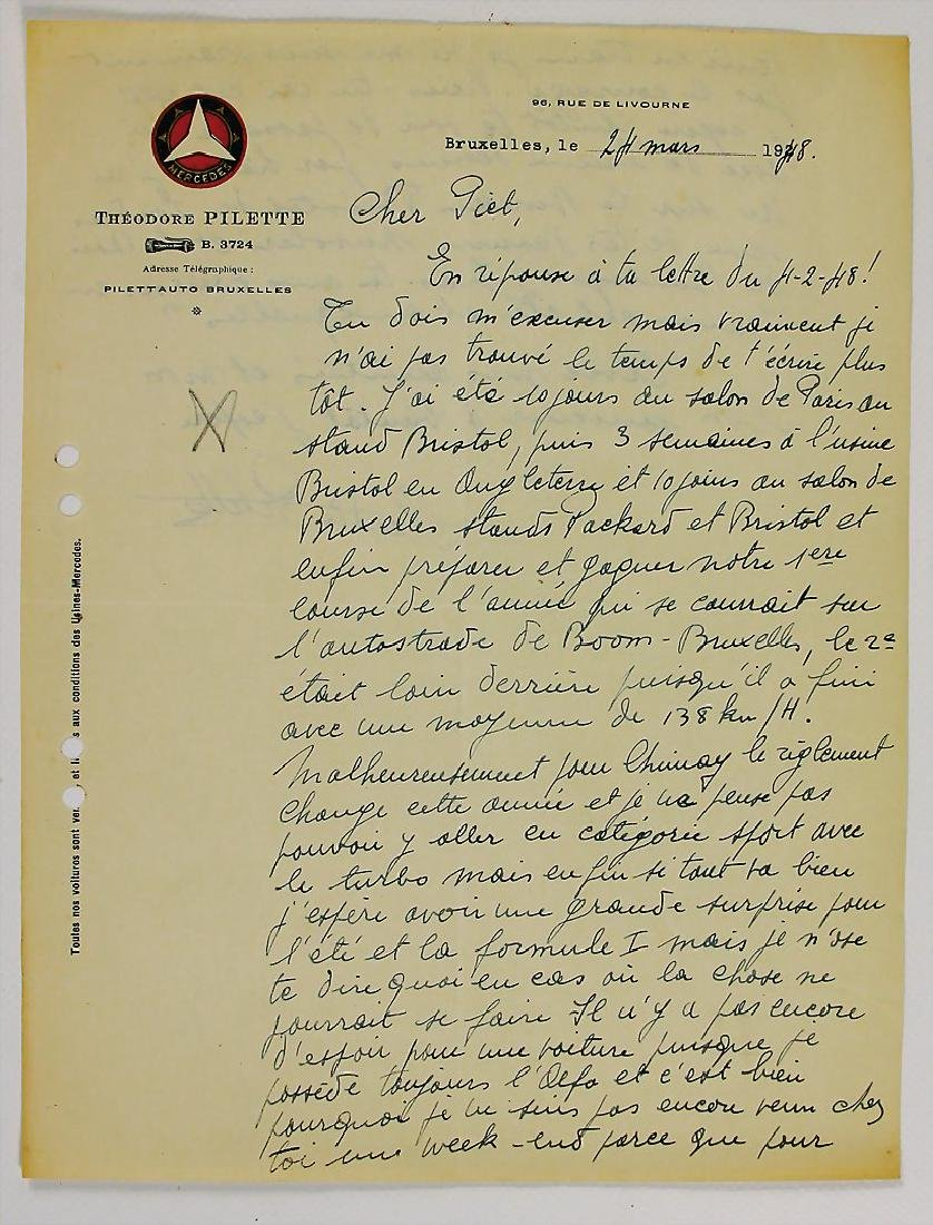 MERCEDES-BENZ writing, dated 24th March 1948, by