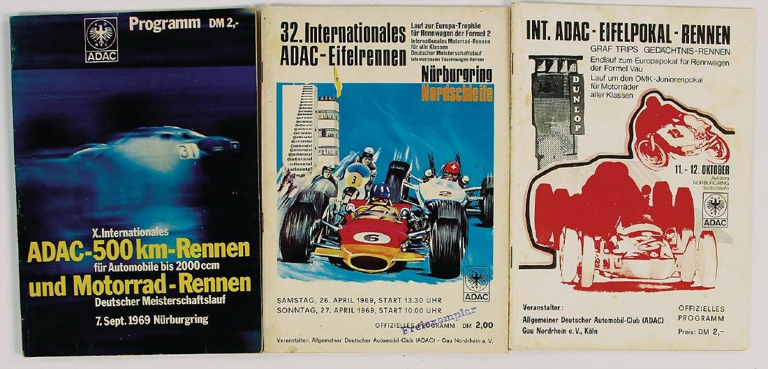 "mixed lot with 3 pieces, programmes, among it ""32."