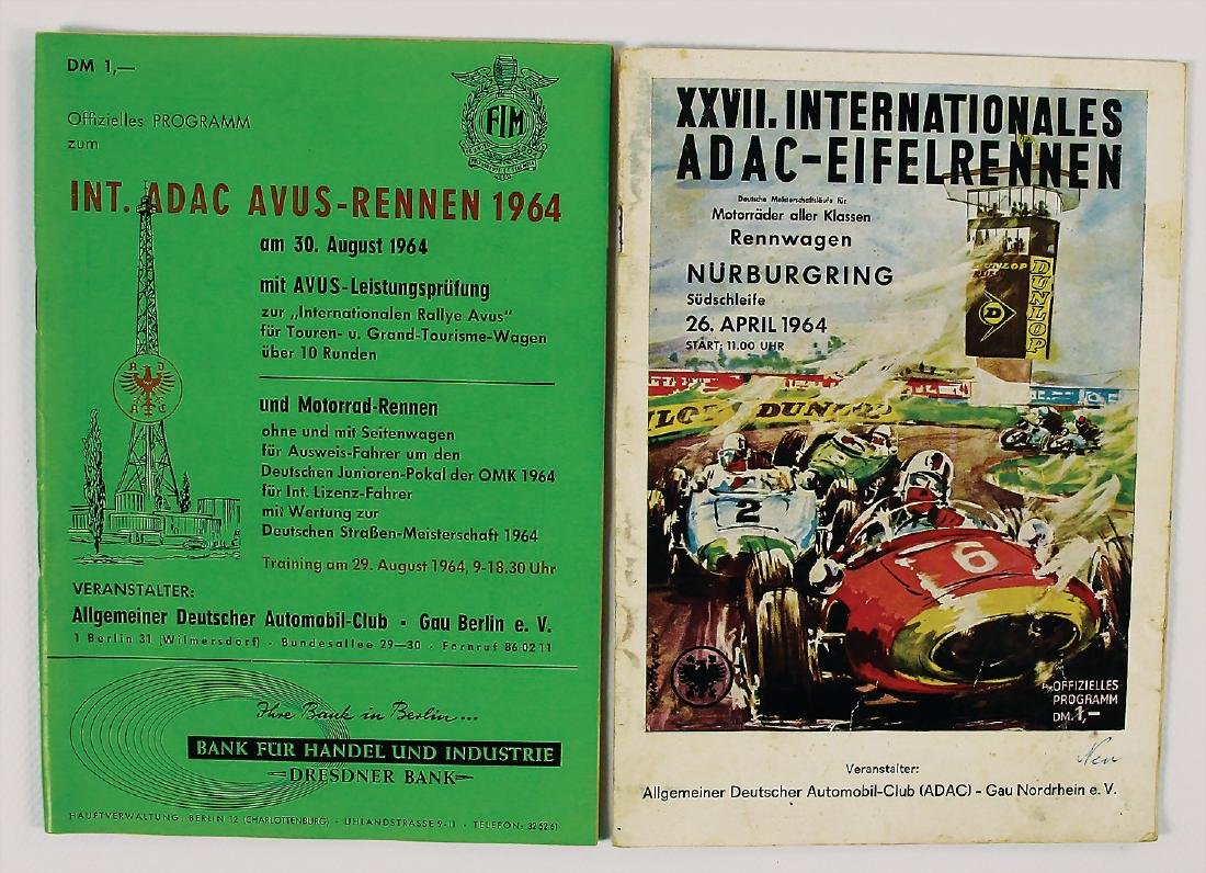 mixed lot with 2 pieces, programmes XXVII.