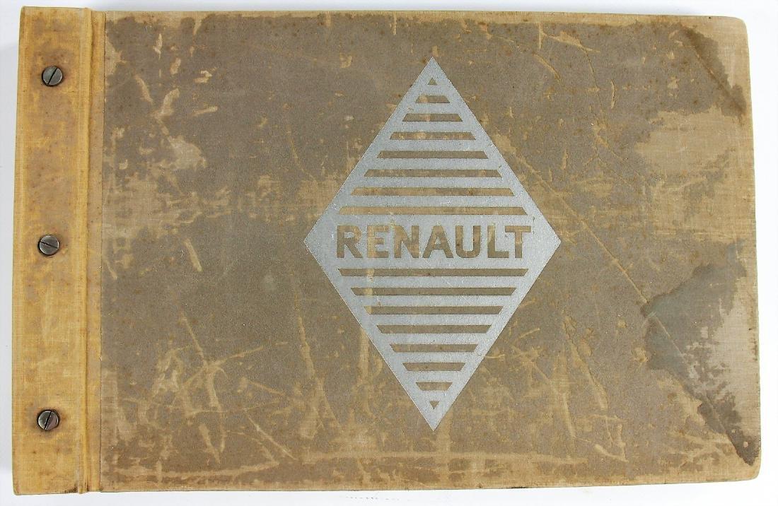 """RENAULT seller catalog """"Les Voitures de Tourisme"""", c."""