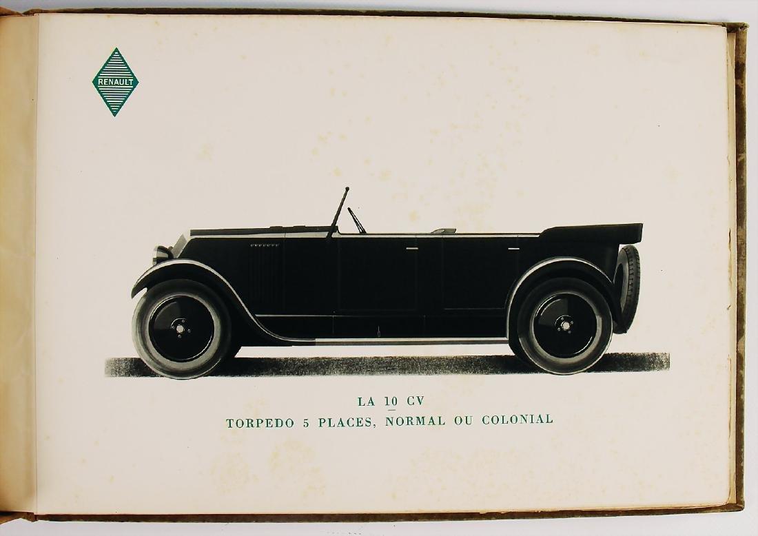 """RENAULT seller catalog """"Les Voitures de Tourisme"""", c. - 2"""
