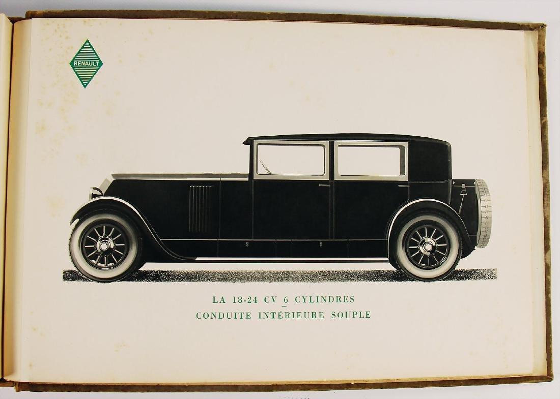 """RENAULT seller catalog """"Les Voitures de Tourisme"""", c. - 4"""