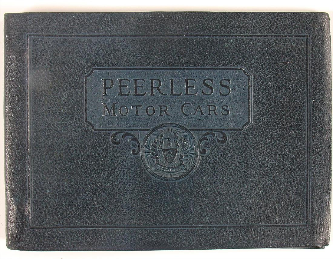 PEERLESS MOTORCARS exclusive catalog with blue cover,