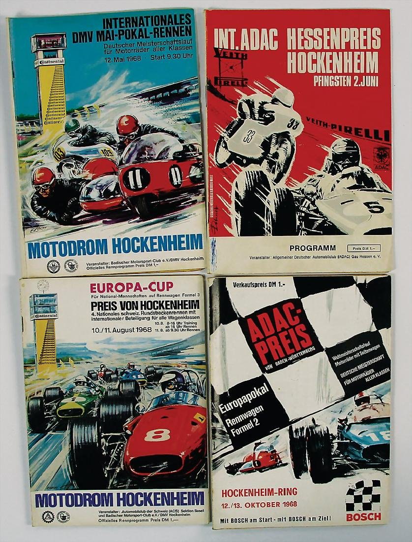 mixed lot with 4 pieces, programmes, among it