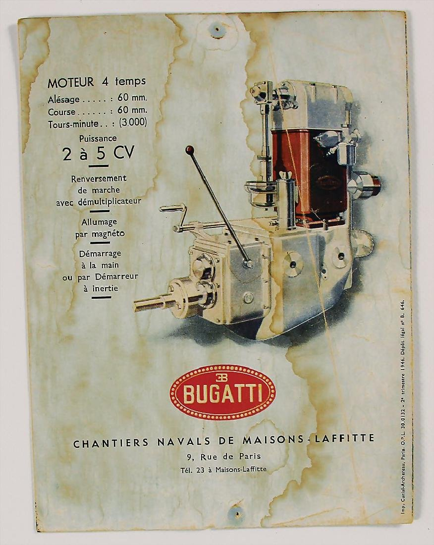 BUGATTI fold-out brochure Bugatti boat engine 2/5CV, 4