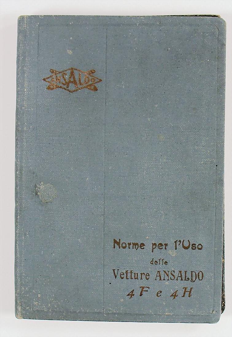 ANSALDO operating instruction Vetture 4FeE4H, Italian