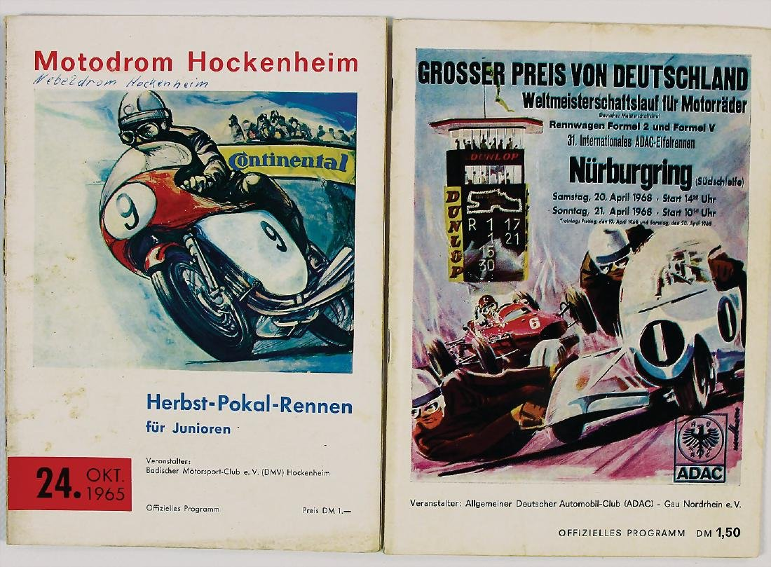 mixed lot with 2 pieces, programmes, among it