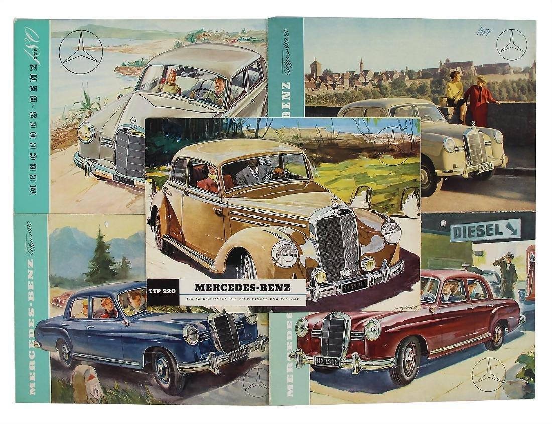 MERCEDES-BENZ mixed lot with 5 pieces, sales brochures,