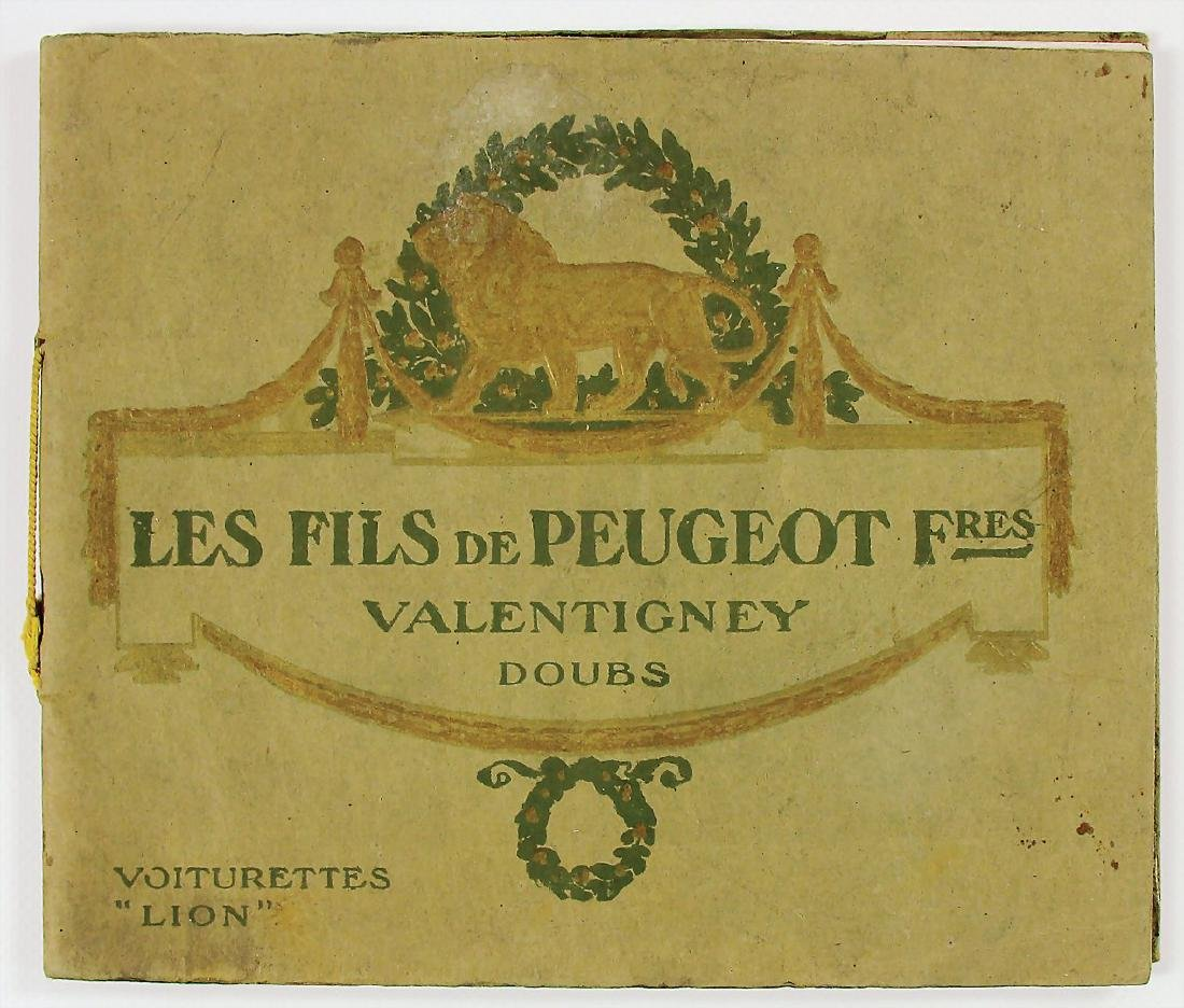 PEUGEOT sales catalog 1909, French text, 48 pages, with