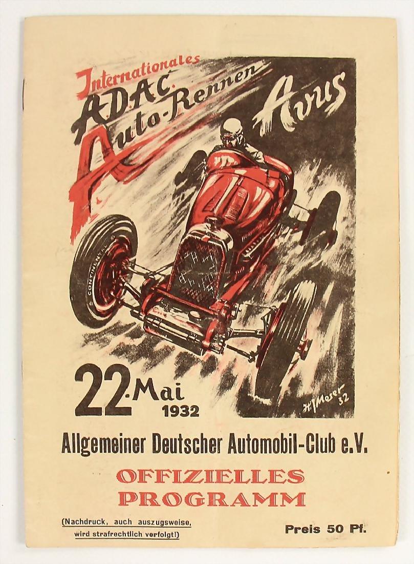 racing programme international Avus race 1932, page 1