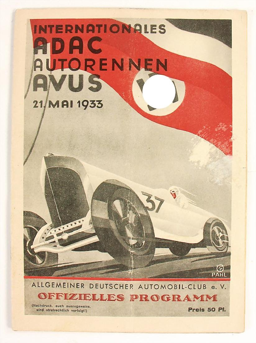 racing programme international Avus-race 1933 (ADAC),
