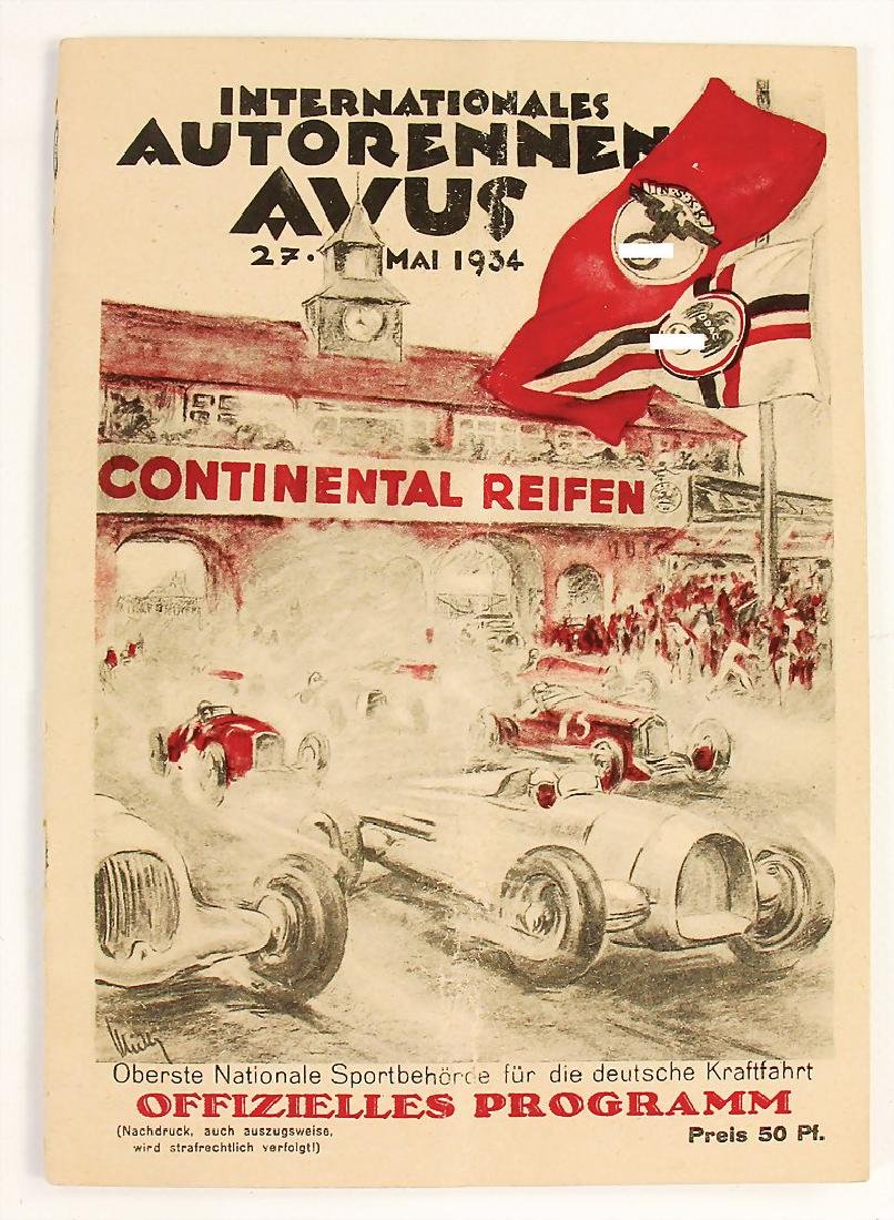 racing programme international Avus-race 1934, with