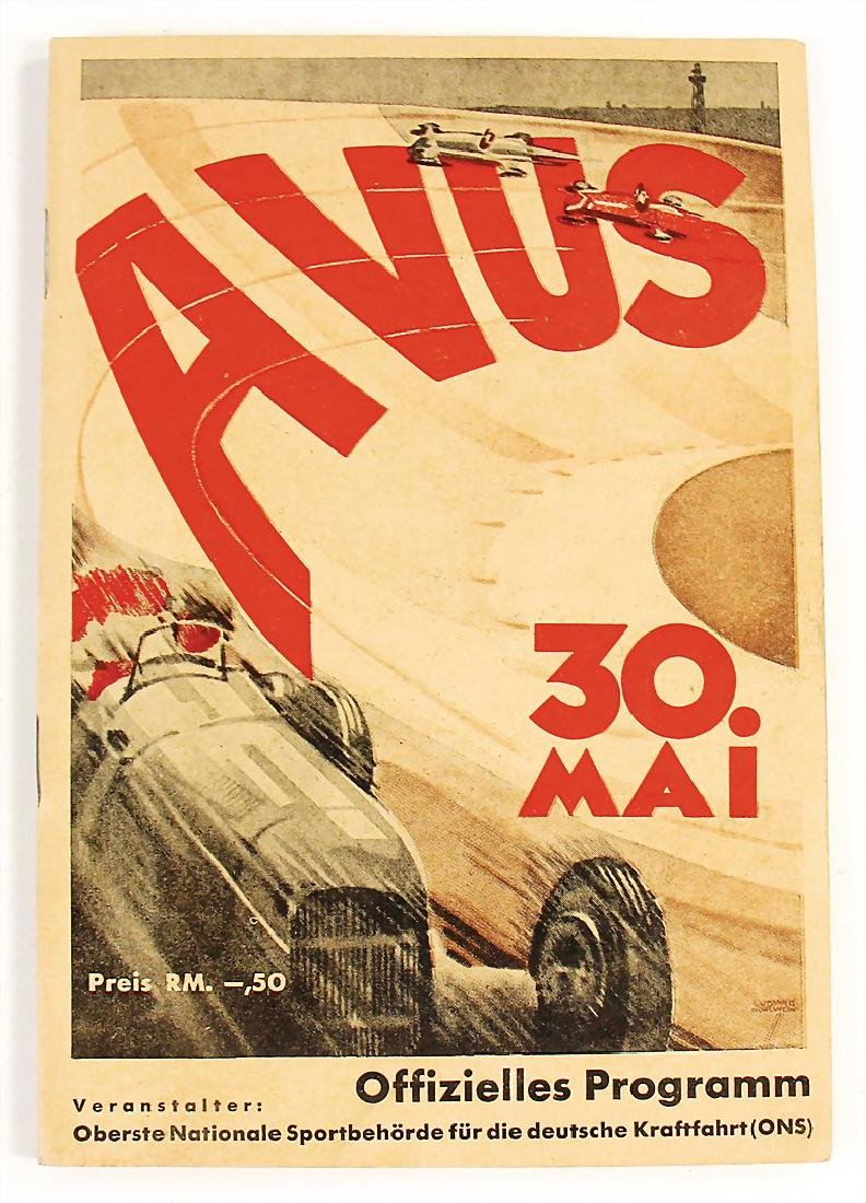 racing programme international Avus race 1937, with