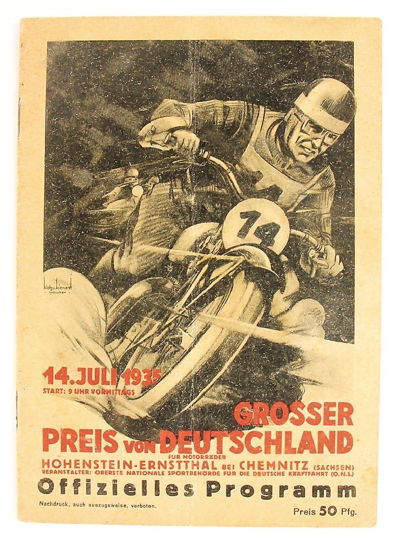 racing programme Grand Prix of Germany