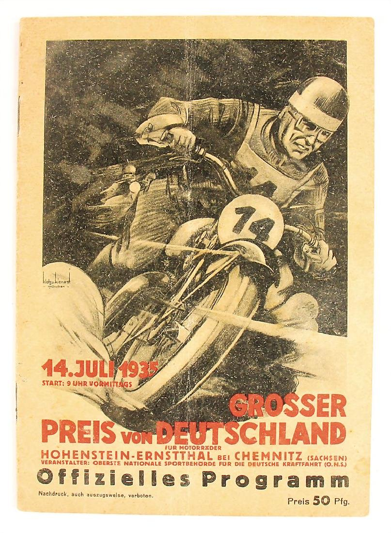 racing programme Grand Prix of Germany