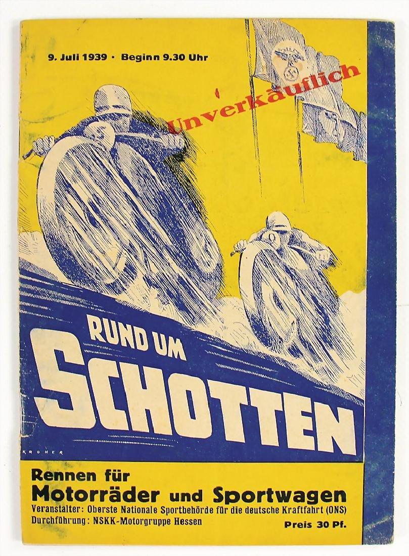 """racing programme """"Rund um Schotten 1939"""", race for"""