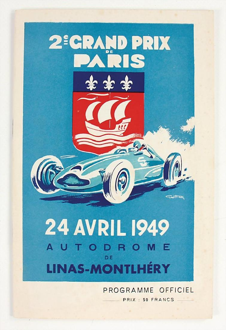 racing programme Grand Prix de Paris 1949, Montlhery,