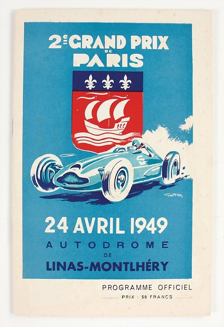 racing programme Grand Prix de Paris 1949, Montlhery,