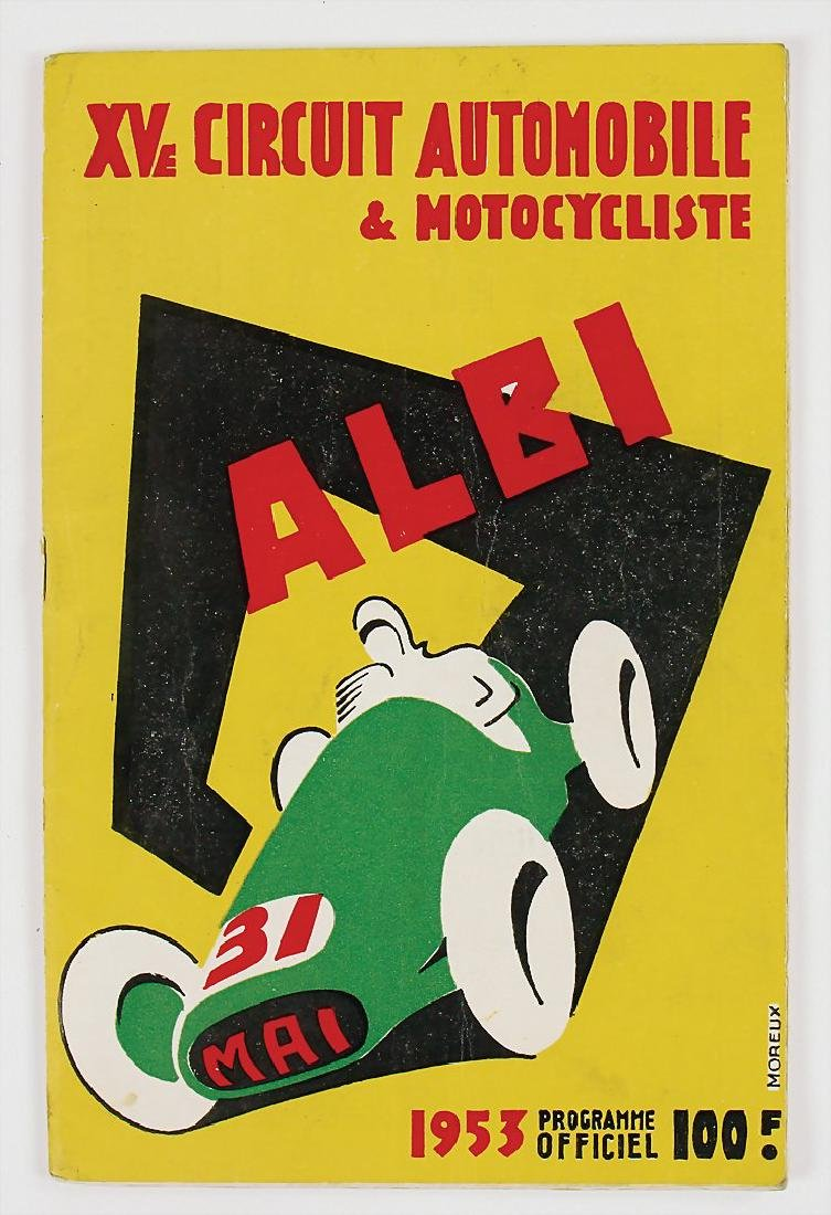 racing programme Grand Prix d?Albi 1953, good used