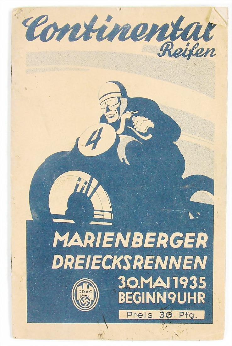 """racing programme """"Marienberger Dreiecksrennen 1935"""""""