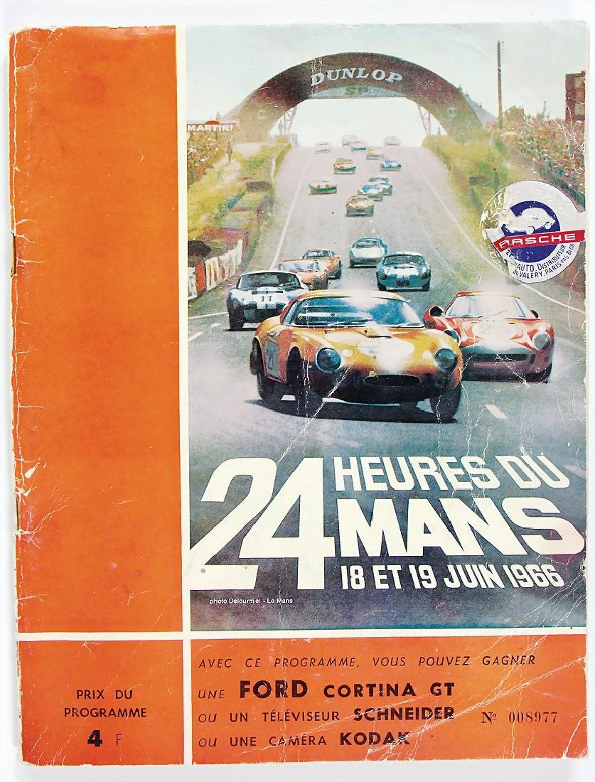 programme booklet 24 Heures du Mans 1966, in French,
