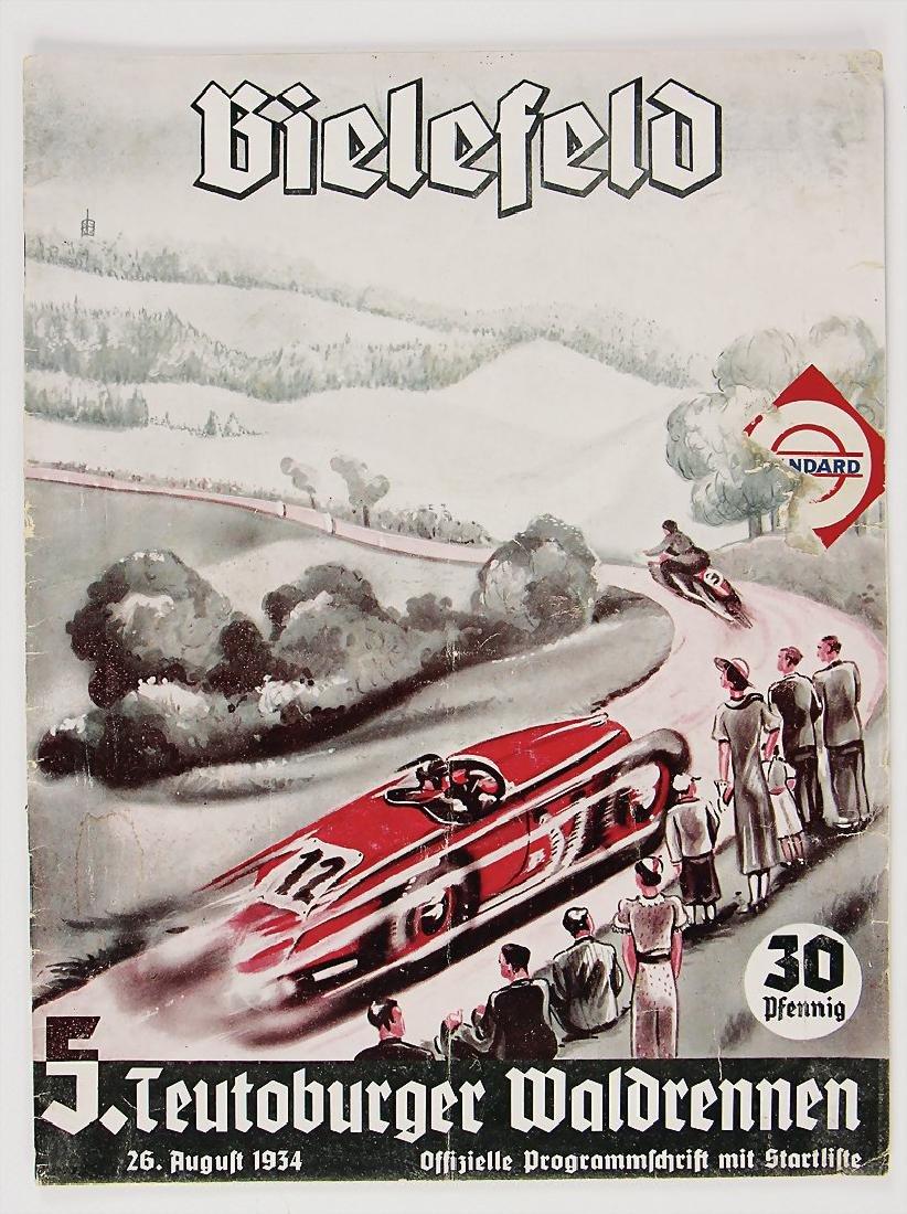 """racing programme """"Teutoburger Waldrennen 1934"""","""