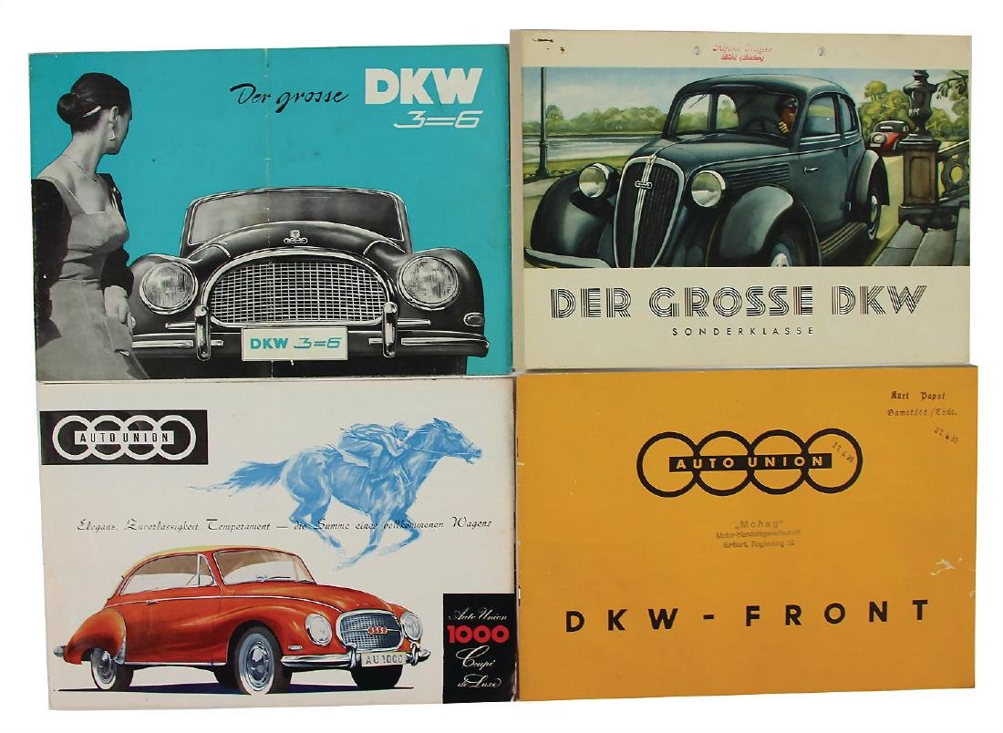 DKW/AUTO UNION mixed lot with 4 pieces, sales brochure